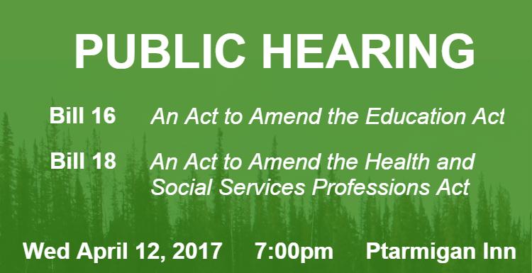 Public Hearing bill 16 18